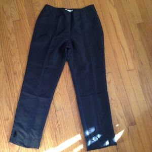 WDNY Black Silk Pants Sz 12